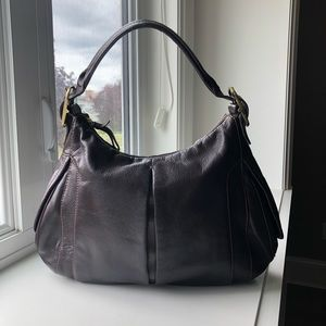 TUMI Leather Hobo Shoulder Bag Purse